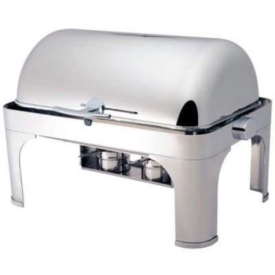 Chafing Dish Scaldavivande Acciaio Inox Roll Top 65x47x45...