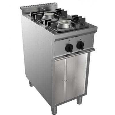 Cucina 2 Fuochi Kw 9 A Gas Con Fiamma Pilota 400x900x850h...