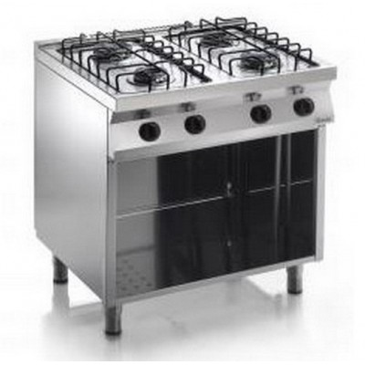 Cucina 4 Fuochi Kw 15,4 A Gas 800x700x850h Serie Smart