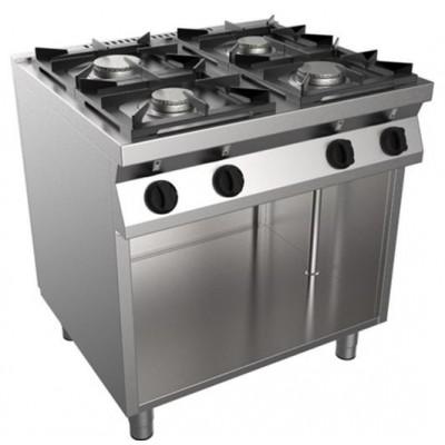 Cucina 4 Fuochi Kw 19 a Gas 800x700x850h Serie Fast