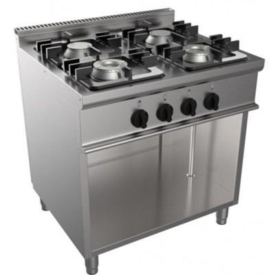 Cucina 4 Fuochi Kw 24 A Gas Con Fiamma Pilota...