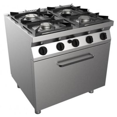 Cucina 4 Fuochi Kw 26,9 A Gas Con Forno 800x700x850h...