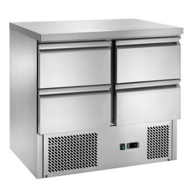 Tavolo Refrigerato Statico In Acciaio Inox 4 Cassetti...