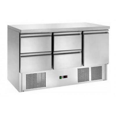 Tavolo Refrigerato Statico con 4 Cassetti Temp. +2° +8°