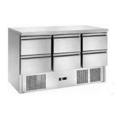 Tavolo Refrigerato Statico con 6 Cassetti Temp. +2° +8°