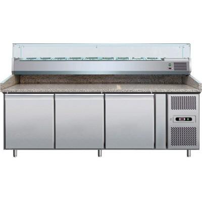Banco Pizza Refrigerato 3 Porte 60x40 + WRX33