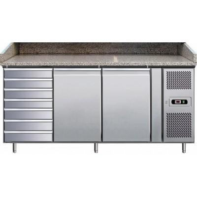 Banco Pizza Refrigerato 2 Porte 60x40 + Cassettiera