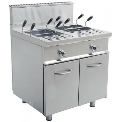 Cuocipasta A Gas Professionale 2 Vasche Linea E900