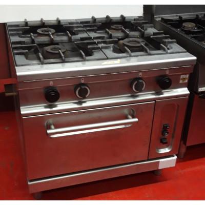 Cucina a gas 4 fuochi con forno serie 900