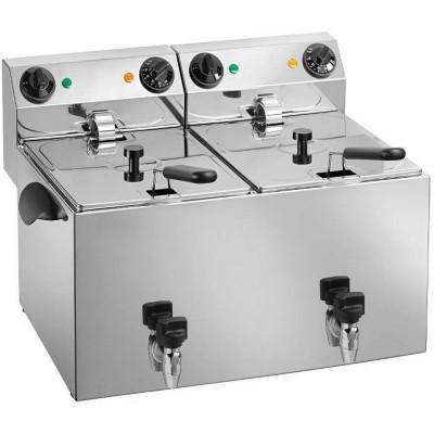 Friggitrice Professionale Elettrica da banco 2 Vasche...