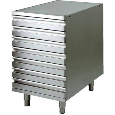 Cassettiera in acciaio inox Ideale per contenitori...