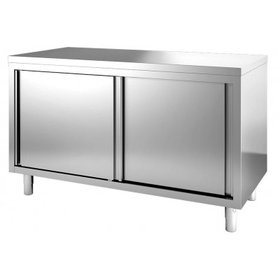 Tavolo Armadiato In Acciaio Inox cm 120x70x85