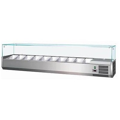 Vetrina Refrigerata Per Banco Pizza, 1800 Mm Per 9...