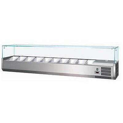Vetrina Refrigerata Per Banco Pizza, 2000 Mm Per 9...