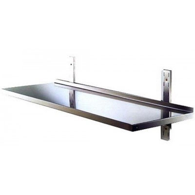 Mensola In Acciaio Inox Completa Cm 70x30x70 H