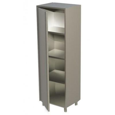 Armadio In Acciaio Inox Con 1 Porta A Battente Cm 50x60x180