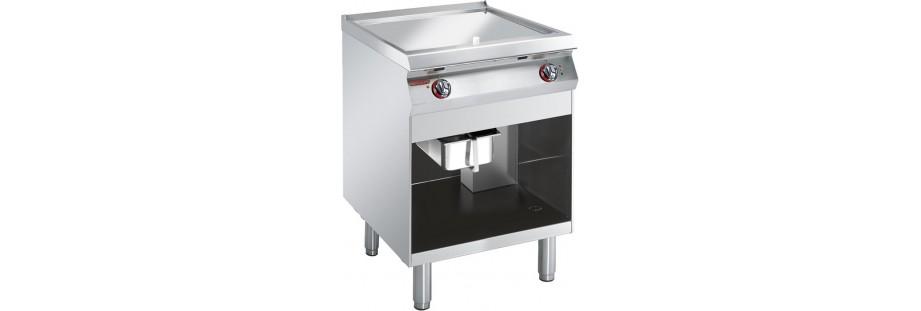 fry top a gas ed elettrici
